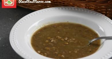 Soupe aux Lentilles & Oignons
