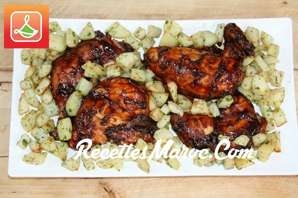 recette poulet bbq pommes de terre recettes maroc. Black Bedroom Furniture Sets. Home Design Ideas