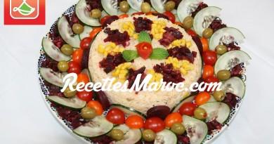 Salade Fraîche de Riz & Betterave