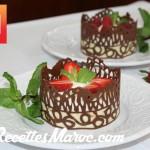 Dentelles en Chocolat & Mousse