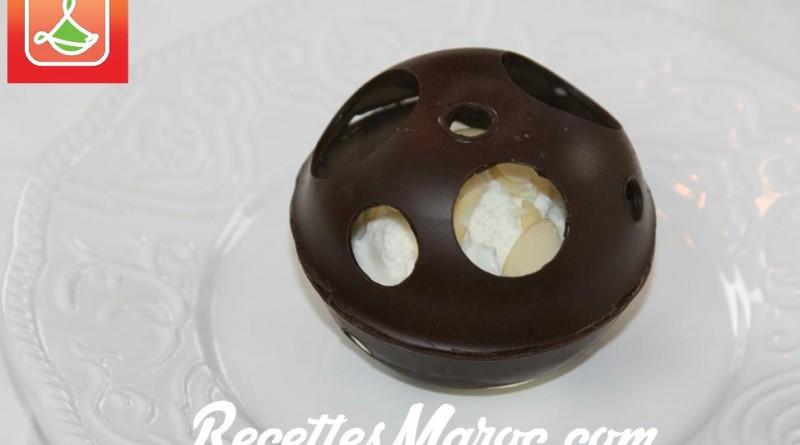Sphère Chocolatée & Crème Glacée