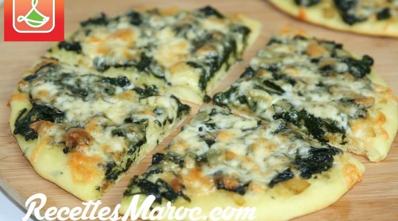 Pizza aux Épinards & Fromage