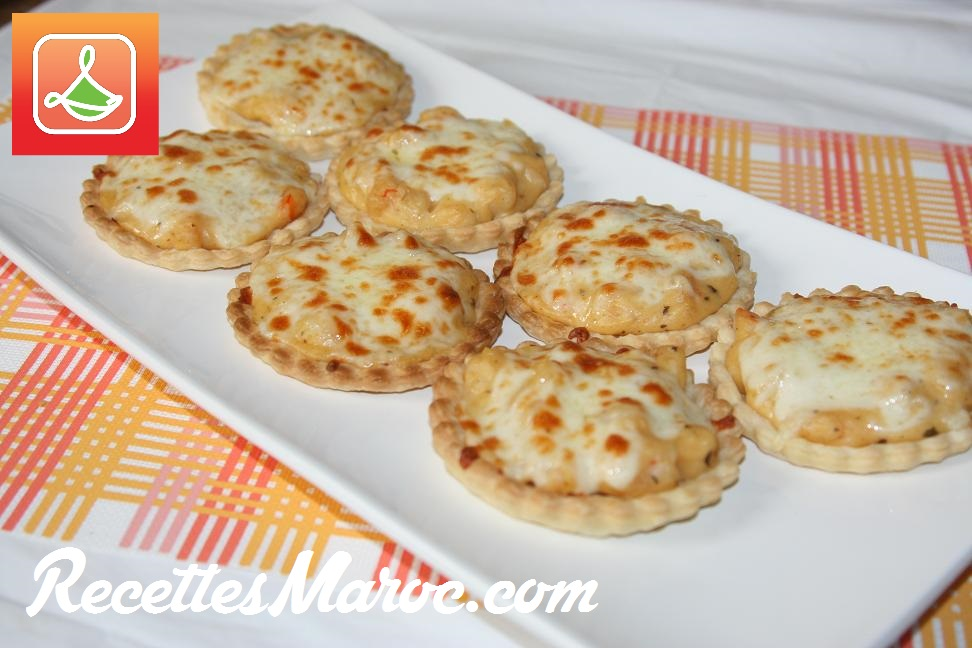 recette tartelettes aux crevettes b chamel recettes. Black Bedroom Furniture Sets. Home Design Ideas