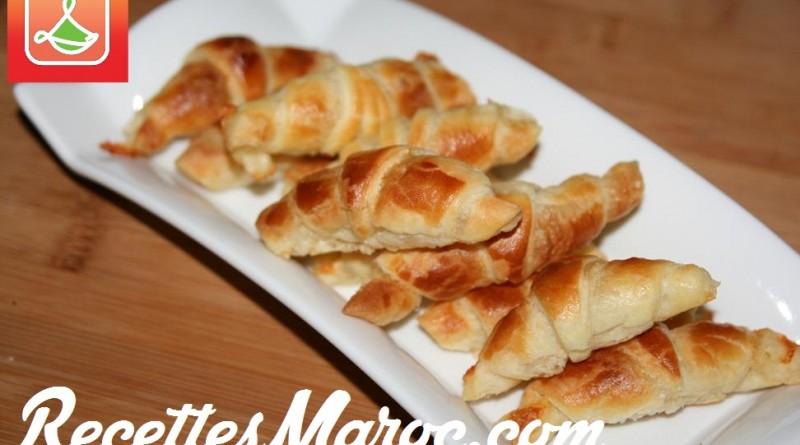 Mini Croissants Feuilletés au Fromage