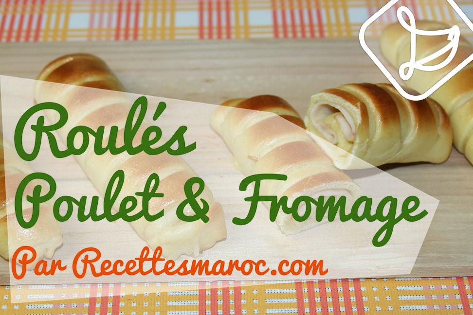 Roulés Briochés au Poulet & Fromage