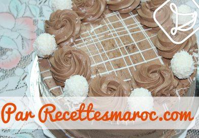 Recette : Gâteau Choco Blanc & Noir