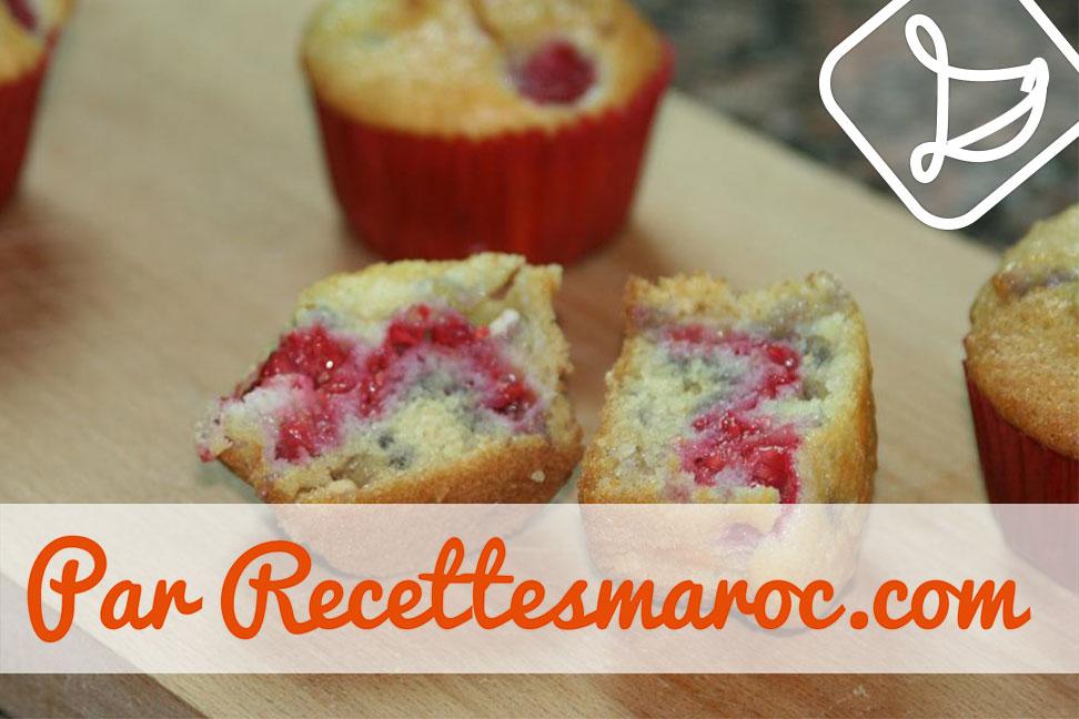 Recette Muffins Framboises Choco Blanc Recettes Maroc