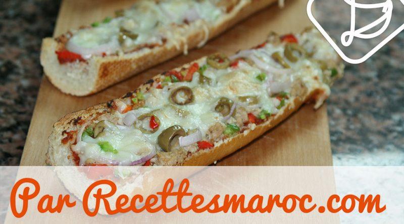 Pizza Baguette au Thon