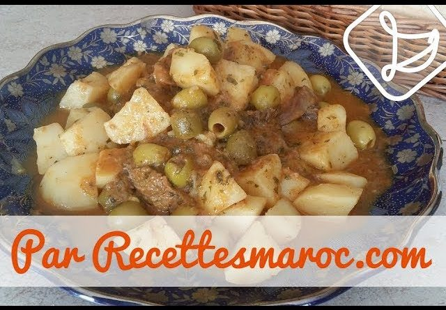 Tagine de Boeuf aux Pommes de Terre & Olives