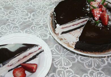 Recette : Gâteau Miroir au Chocolat & Fraises