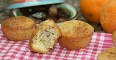 Muffins aux Dattes,Orange & Amandes
