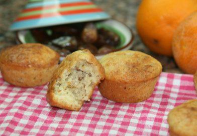 Recette : Muffins Dattes, Orange & Amandes