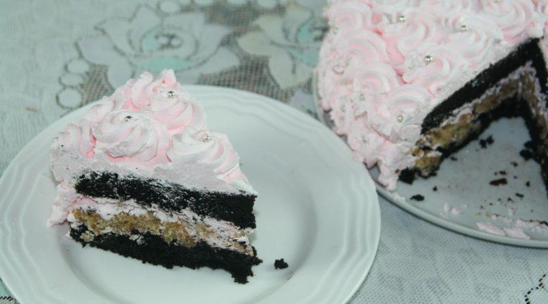 Gâteau Chocolat & Rosettes à la Crème