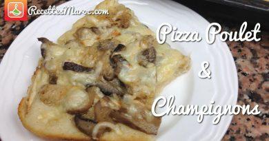 Pizza au Poulet & Champignons