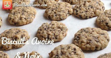 Recette : Biscuits Avoine & Noix