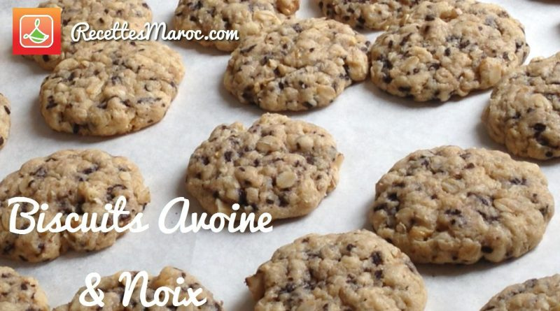 Biscuits avoine & noix