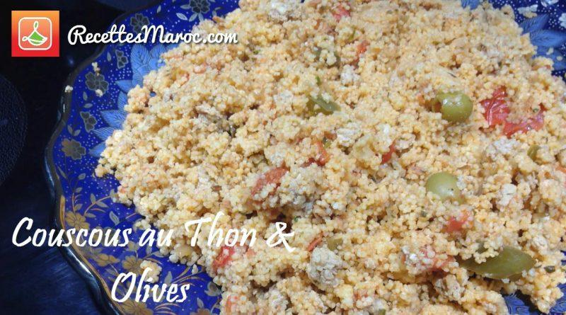 Recette : Entrée de Couscous au Thon & Olives
