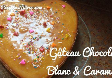Recette : Gâteau Choco Blanc & Caramel