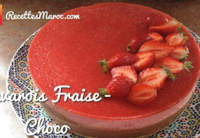 Recette : Gâteau Bavarois Fraise- Choco