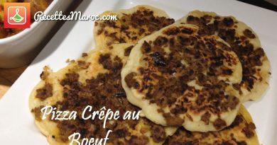 Recette : Pizza Crêpe Salée au Boeuf
