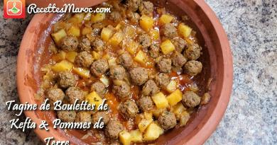 Recette :  Tagine de Boulettes de Kefta & Pommes de Terre
